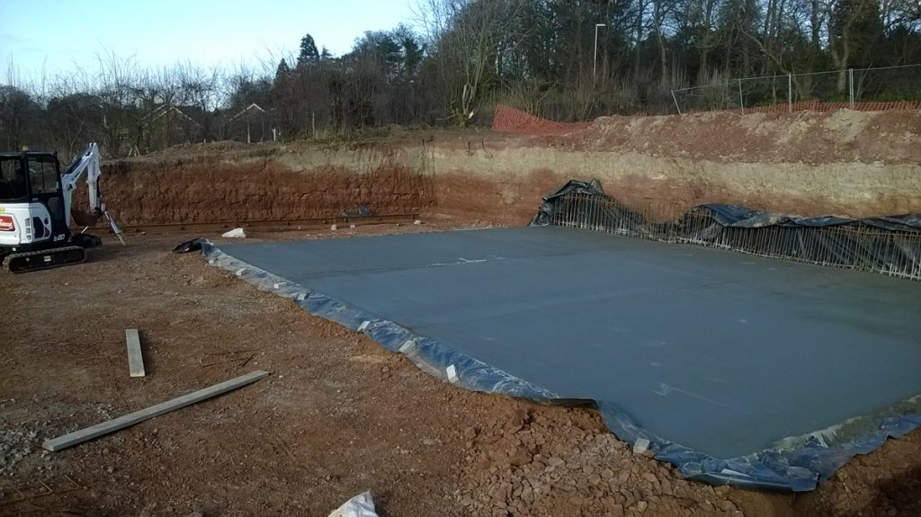 Concreting of the base slab complete