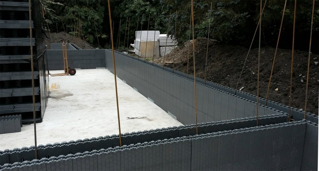Insulating concrete formwork starts in Tealby, Lincolnshire