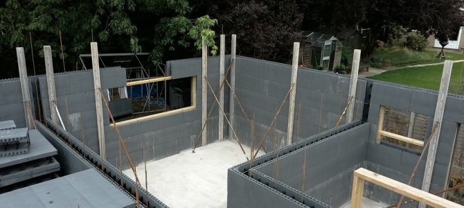 ICF Walls up to Wallplate
